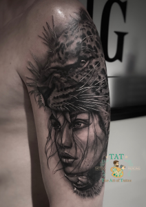 Tattoo black and grey